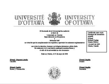 Academic degree Translation